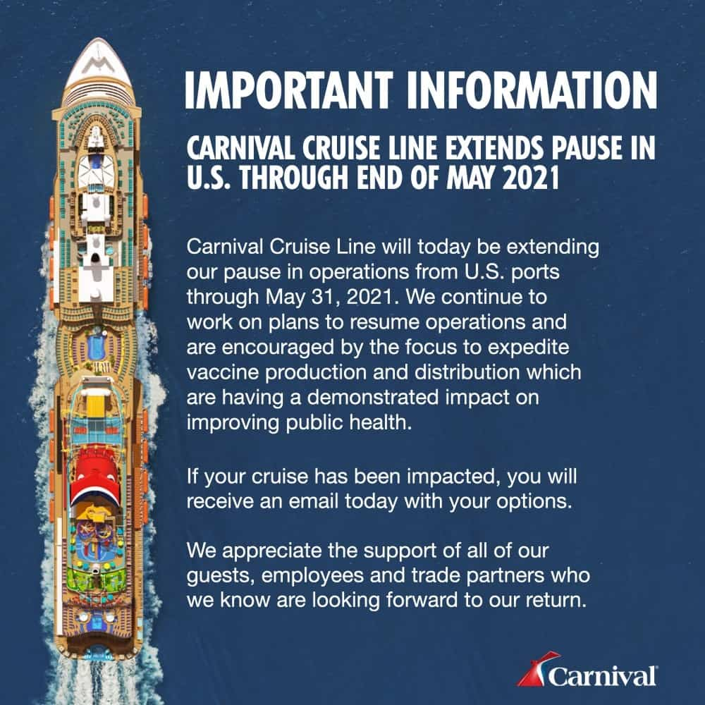 Carnival Cancellations