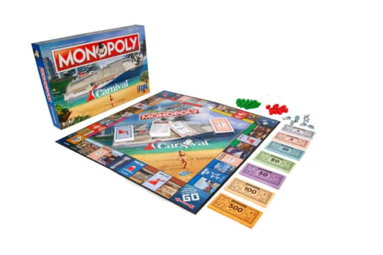 Carnival Cruise Line Monopoly Game