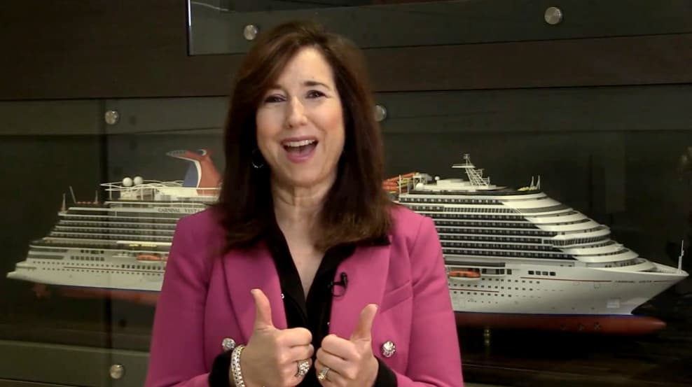 Carnival Cruise Line President Message