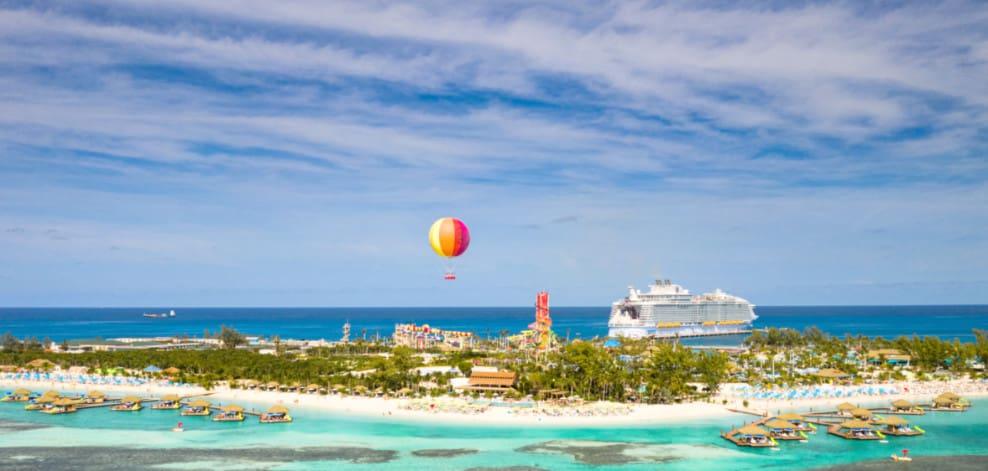 Cruise Ship at Perfect Day at CocoCay