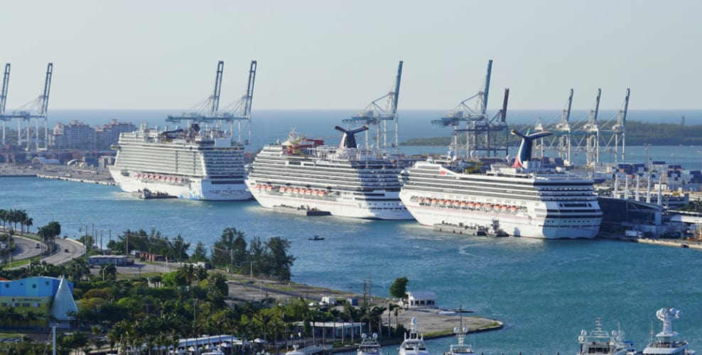 Cruise Ships in Miami, Florida