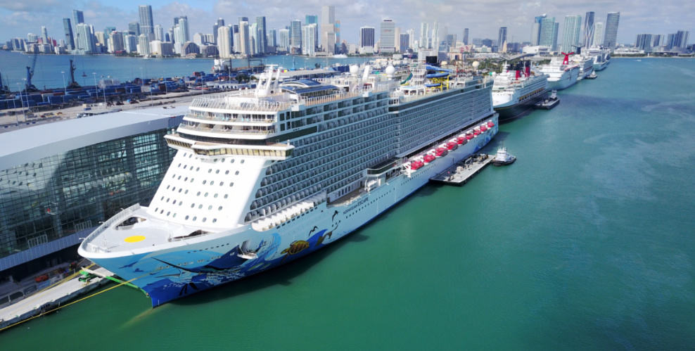 Norwegian Cruise Ship in Miami