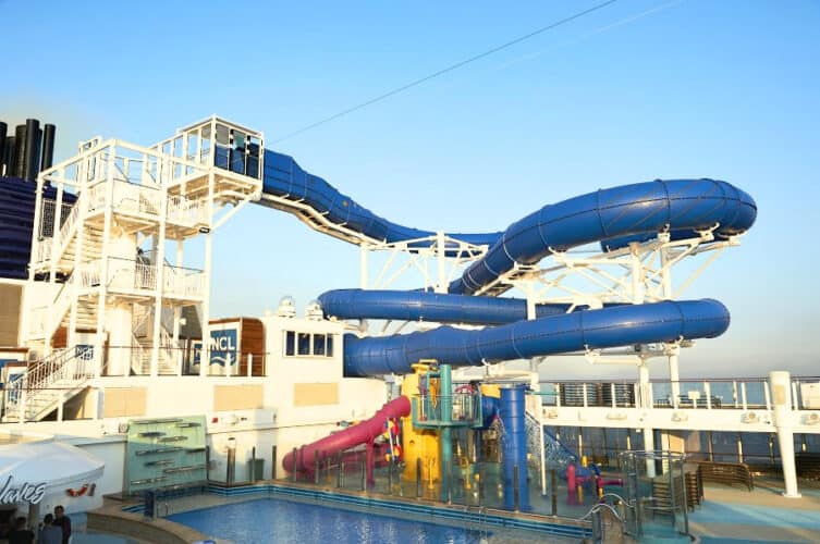 Kid's Aqua Park on Norwegian Bliss