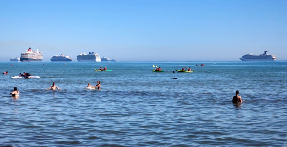 Cruise Ships off UK Coast