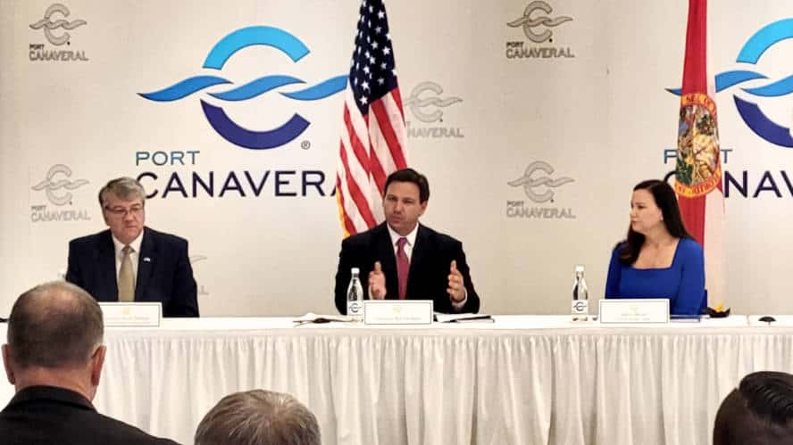Florida Governor at Port Canaveral
