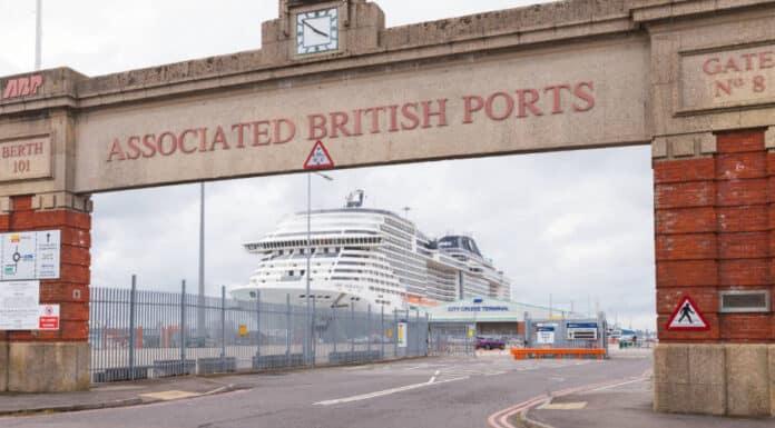MSC Cruise Ship in the UK