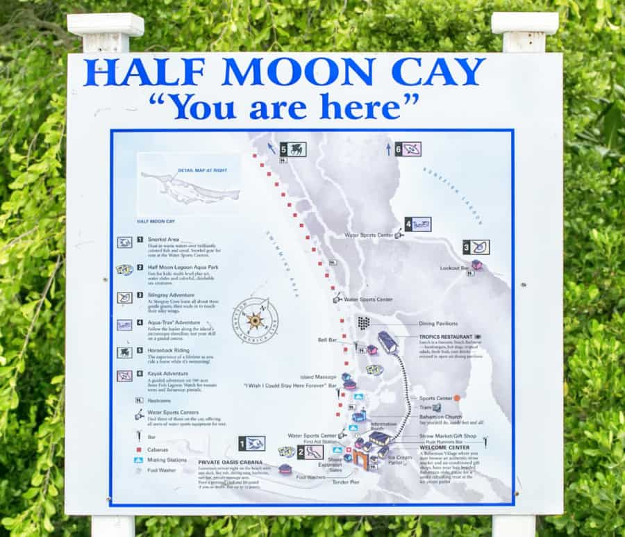 Half moon Cay Map