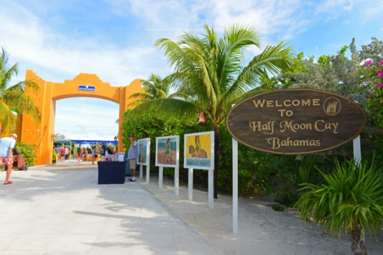 Entrance to Half Moon Cay, Bahamas