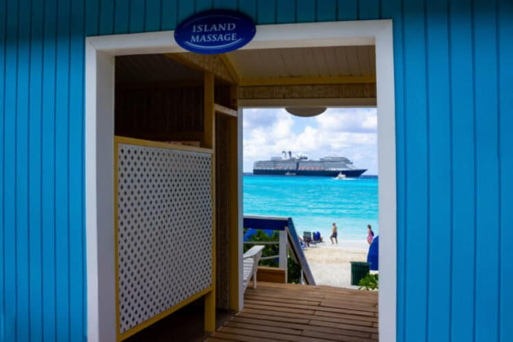 Island Massage on Half Moon cay, Bahamas