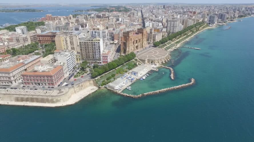 Aerial View of Taranto, Italy