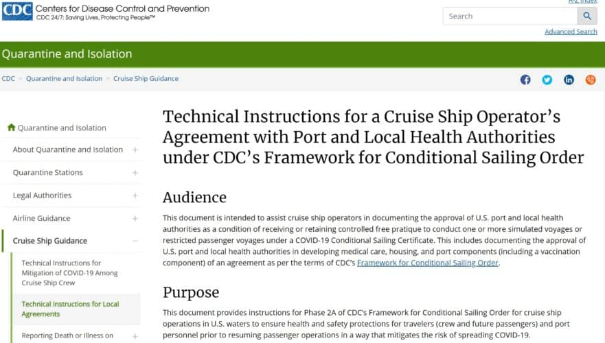 CDC Technical Instructions