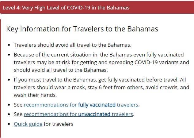 Bahamas Advisory
