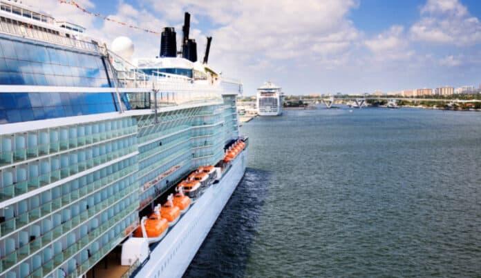 Docked Cruise Ships in Florida