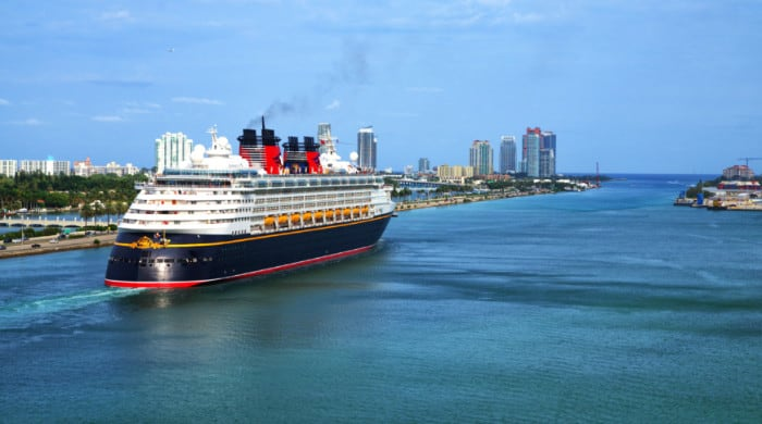 Disney Cruise Ship Departing