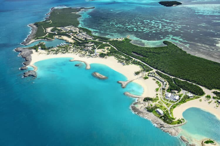View of Great Stirrup Cay Island