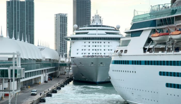 Cruise Ships at PortMiami, Florida