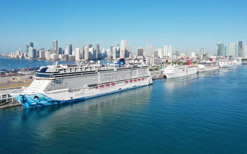 Cruise Ships at PortMiami in Florida