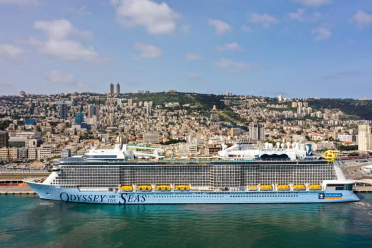 Odyssey of the Seas Docked in Israel