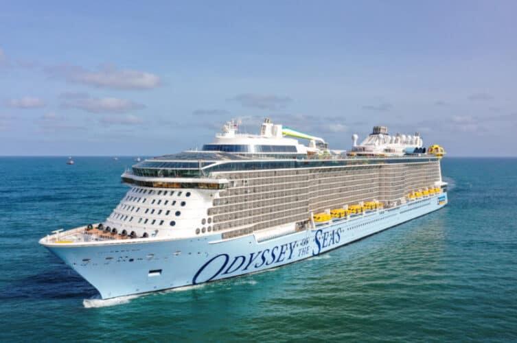 Odyssey of the Seas arriving in Israel