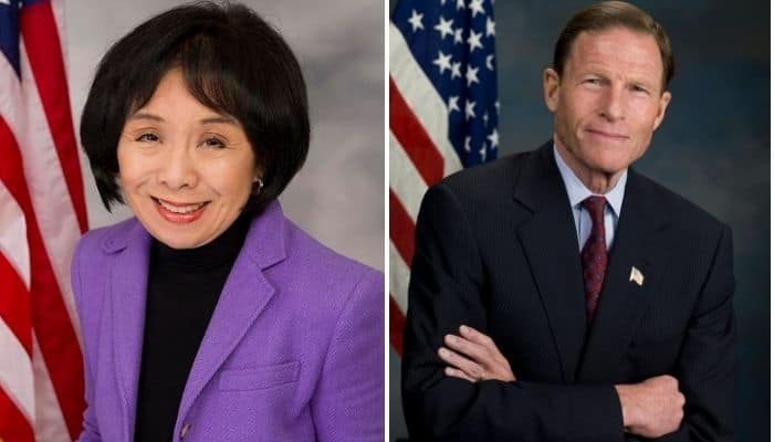Congresswoman Doris Matsui of Sacramento and U.S. Senator Richard Blumenthal
