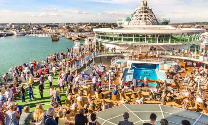 Cruise Ship in Southampton UK