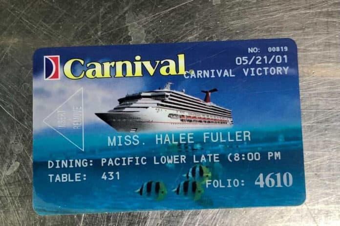 Carnival Cruise Card