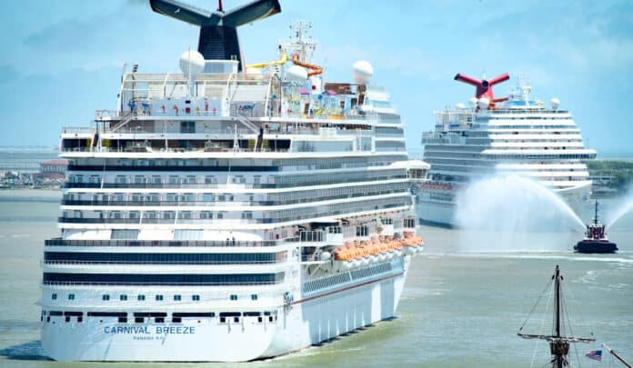 Carnival Cruise Line Ships Arrive in Galveston