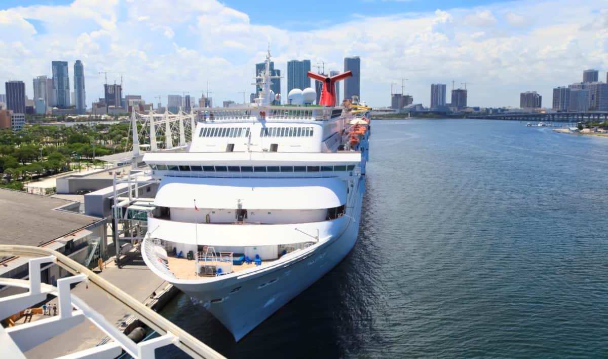 Carnival Cruise Ship in Miami, Florida