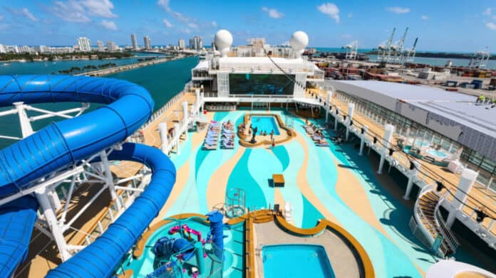 Norwegian Cruise Ship in Miami, Florida