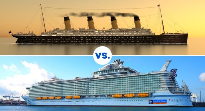 Titanic vs Modern Cruise Ship