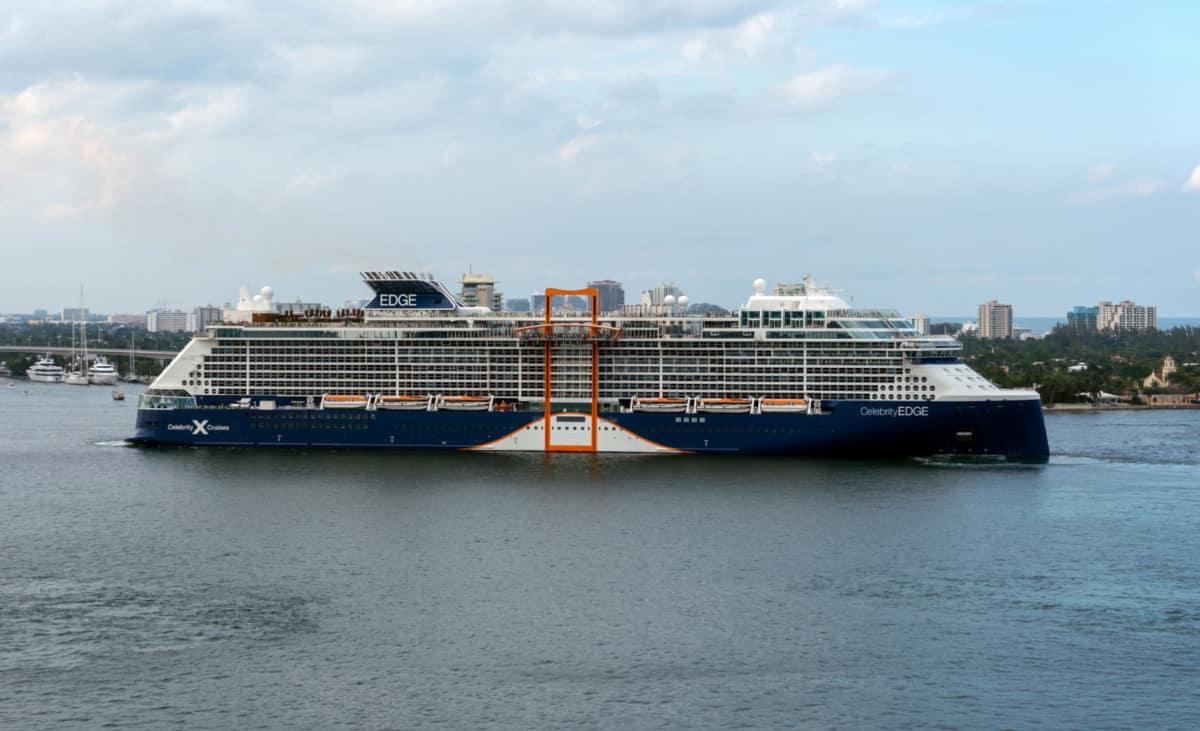Celebrity Edge Departs Fort Lauderdale