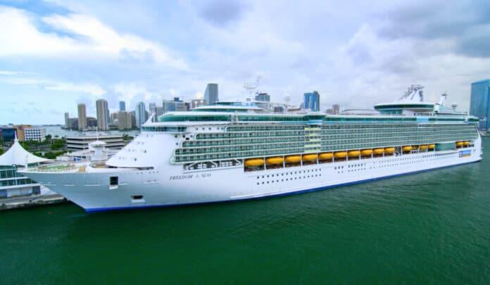 Royal Caribbean Cruise Ship in Miami, Florida