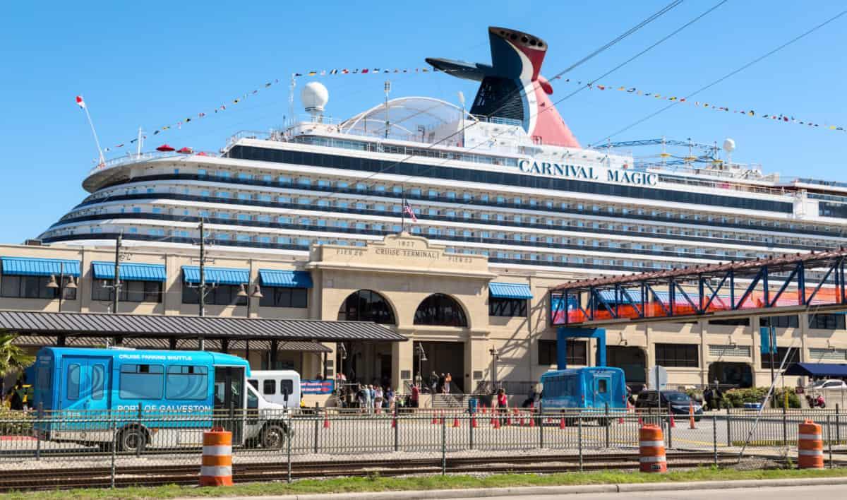 Carnival Cruise Ship in Galveston, Texas