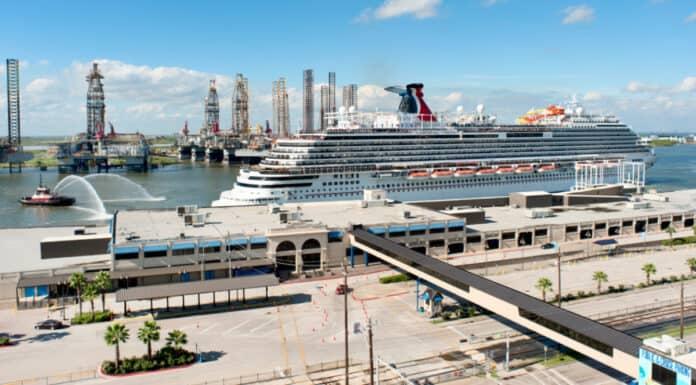 Carnival Cruise Ship at Galveston, Texas