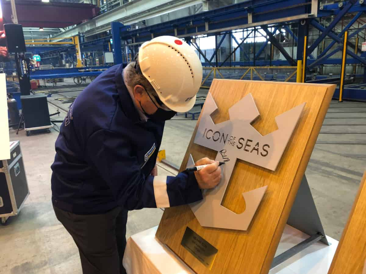 Icon of the Seas Steel Cutting