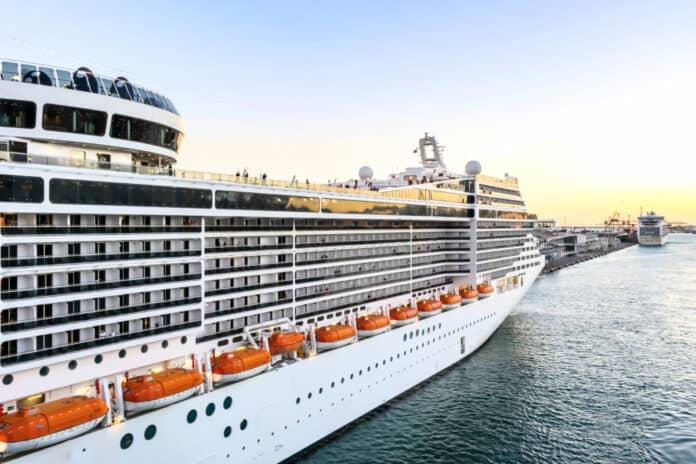MSC Cruise Ship in Barcelona, Spain