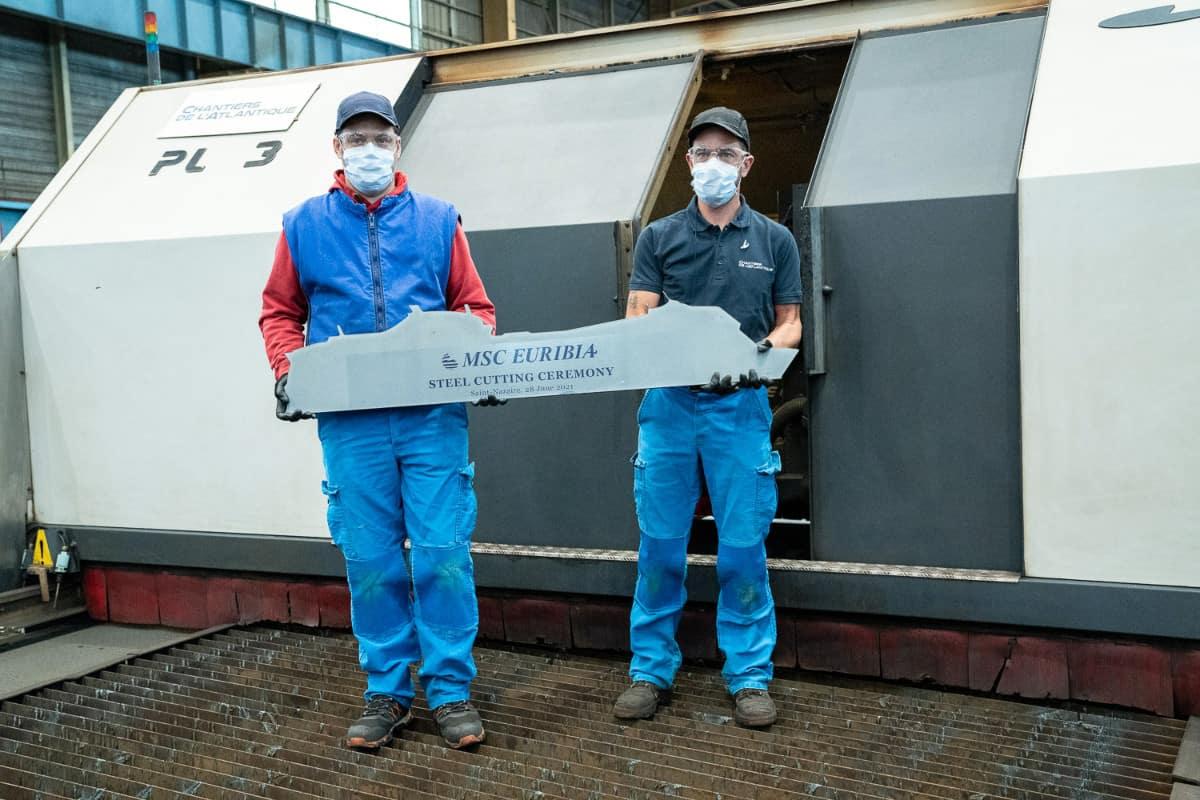 MSC Euribia Steel Cutting Ceremony