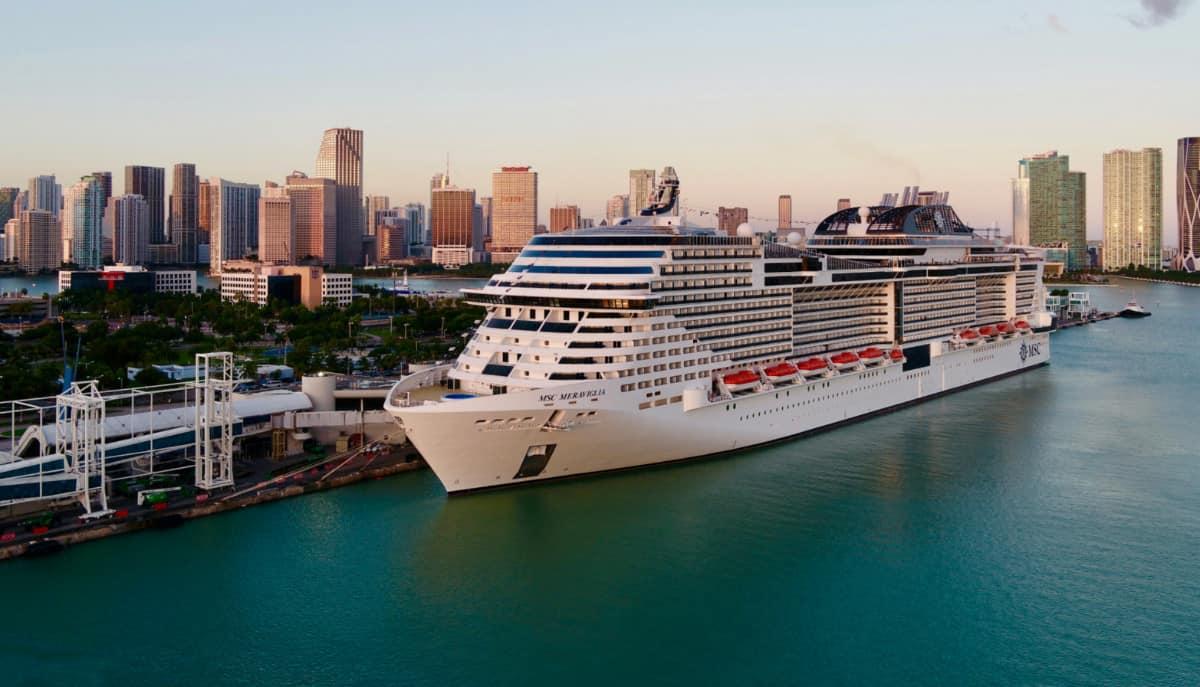 MSC Meraviglia in Miami, Florida
