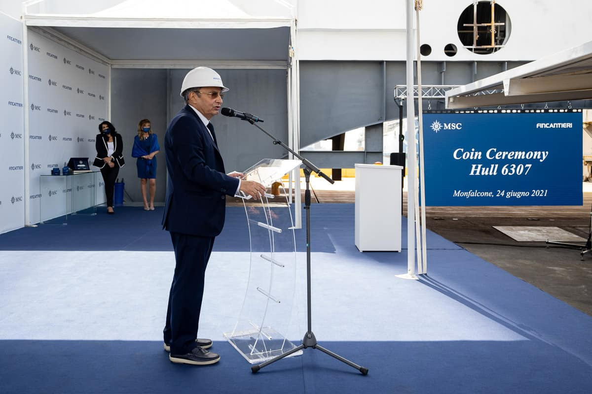 MSC Seascape Keel Laying Ceremony