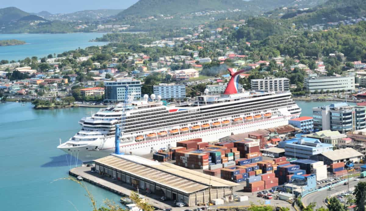 Cruise Ship Docked in St. Lucia