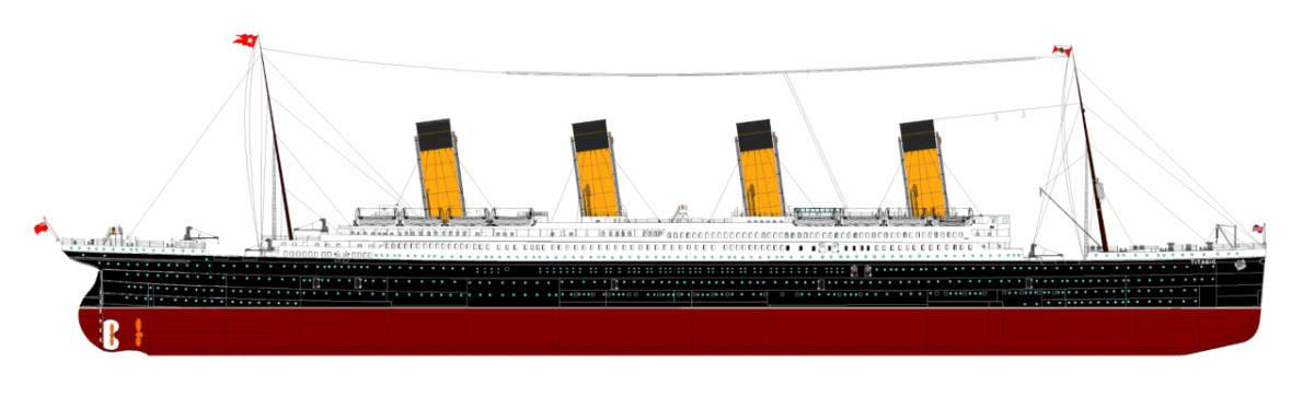 Titanic Starboard Side