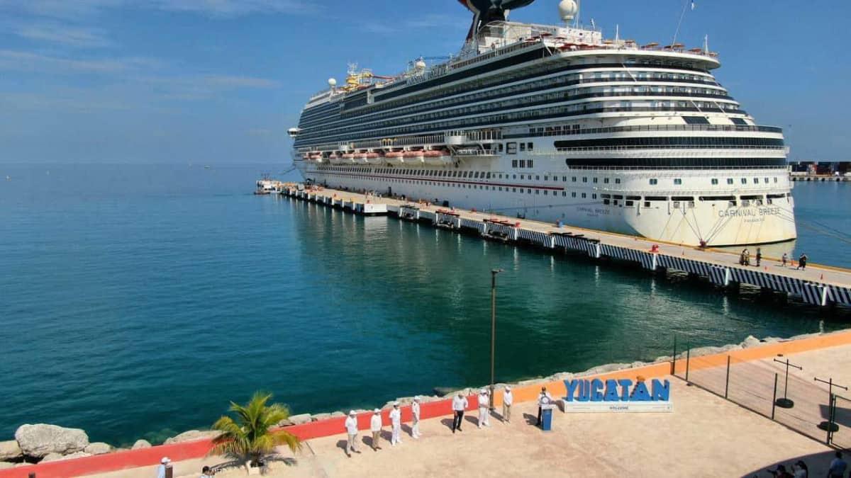 Carnival Breeze Docked in Progreso