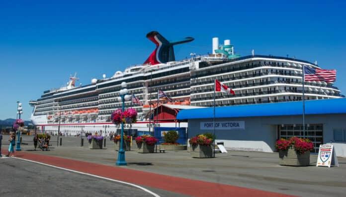 Docked Carnival Cruise Ship