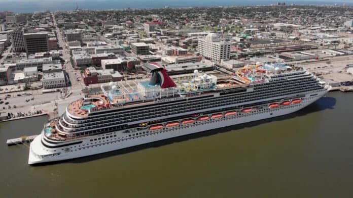 Carnival Vista in Galveston, Texas