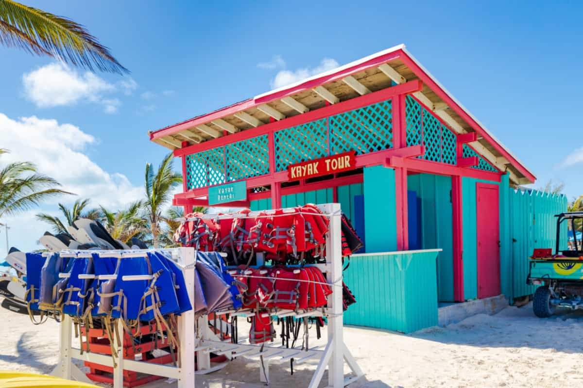 Rental and Tour Shack at CocoCay