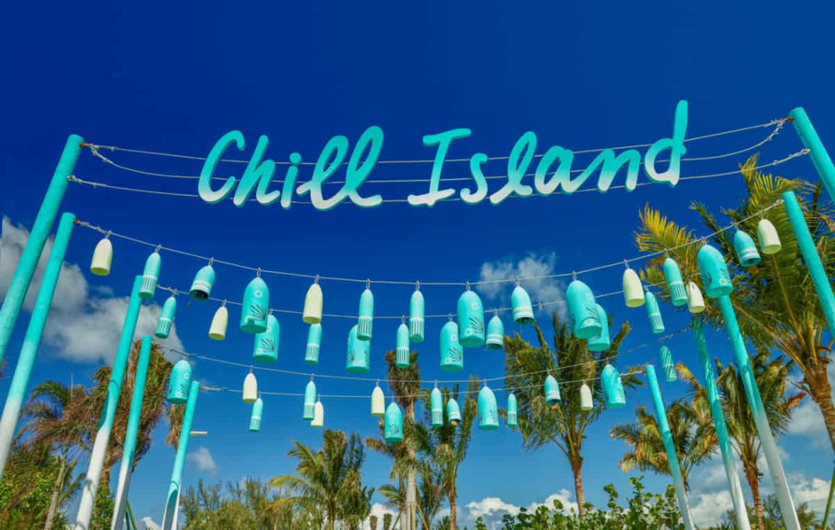 Chill Island Welcome Sign