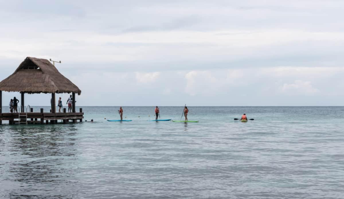 Paddleboarding in Cozumel