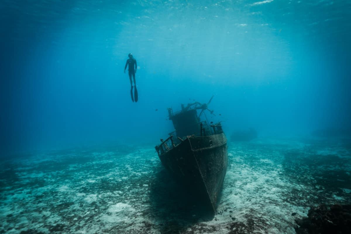 Sunken Ship in Cozumel