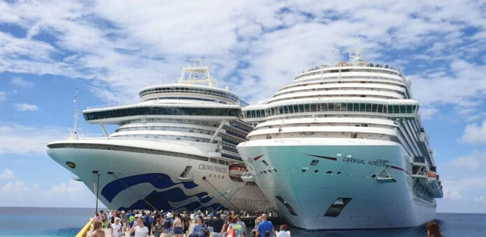 Two Carnival brand Cruise Ships