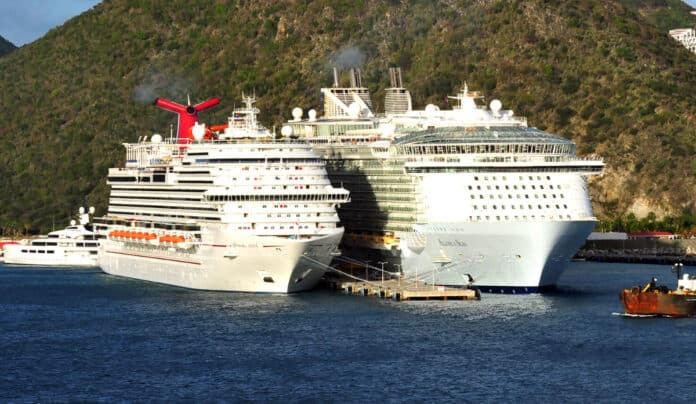 Two Docked Cruise Ships